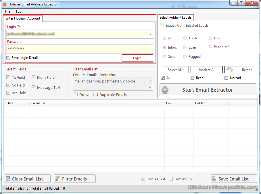 Hotmail Email Address Extractor 2 5 0 11 Free download